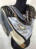 """Турецкий хлопковый платок с стильным рисунком 95х95 см """"Весеннее цветение"""" (цв.2)"""