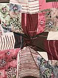 """Осенний хлопковый платок Турция 95х95 см """"Весеннее цветение"""" (цв.3), фото 2"""