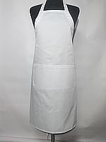 Фартук рекламный, корпоративный Atteks с нагрудником длинный белый - 00222