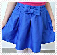 Юбка для девочки с Бантом ,цвета: малина,бирюза,електрик,  РОСТ 116-122-128-134-140-146 СМ , код 0603, фото 5