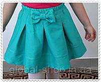 Юбка для девочки с Бантом ,цвета: малина,бирюза,електрик,  РОСТ 116-122-128-134-140-146 СМ , код 0603, фото 4