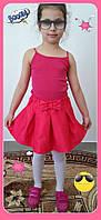 Юбка для девочки с Бантом ,цвета: малина,бирюза,електрик,  РОСТ 116-122-128-134-140-146 СМ , код 0603, фото 7