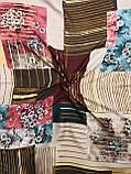 """Модный платок женский с принтом 95х95 см """"Весеннее цветение"""" (цв.5), фото 2"""