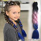 🖤💙 Канекалон трёхцветный для брейд и причёсок 🖤💙, фото 2