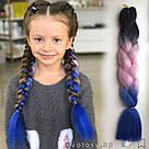 🖤💙 Канекалон трёхцветный для брейд и причёсок 🖤💙, фото 7