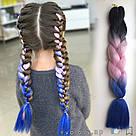 🖤💙 Канекалон трёхцветный для брейд и причёсок 🖤💙, фото 8