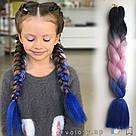 🖤💙 Канекалон трёхцветный для брейд и причёсок 🖤💙, фото 9