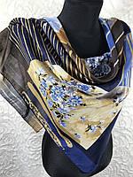"""Хлопковый современный платок Турция 95х95 см """"Весеннее цветение"""" (цв.11)"""