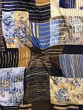 """Хлопковый современный платок Турция 95х95 см """"Весеннее цветение"""" (цв.11), фото 2"""