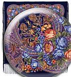 Ненаглядна 1025-14, павлопосадская шаль з ущільненої вовни з шовковою бахромою в'язаної, фото 8