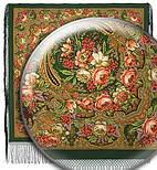 Счастливица 1122-10, павлопосадский платок (шаль) из уплотненной шерсти с шелковой вязаной бахромой, фото 2