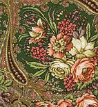 Счастливица 1122-10, павлопосадский платок (шаль) из уплотненной шерсти с шелковой вязаной бахромой, фото 3