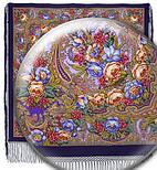 Счастливица 1122-15, павлопосадский платок (шаль) из уплотненной шерсти с шелковой вязанной бахромой, фото 8