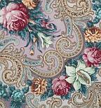Тайна сердца 1437-1, павлопосадский платок шерстяной с шелковой бахромой, фото 5