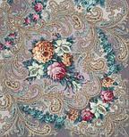 Тайна сердца 1437-1, павлопосадский платок шерстяной с шелковой бахромой, фото 6