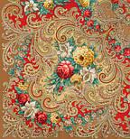 Тайна сердца 1437-2, павлопосадский платок шерстяной с шелковой бахромой, фото 2