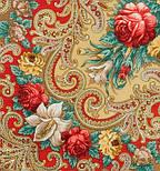 Тайна сердца 1437-2, павлопосадский платок шерстяной с шелковой бахромой, фото 3