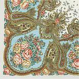 Сольвейг 1549-2, павлопосадский платок шерстяной  с шелковой бахромой, фото 2