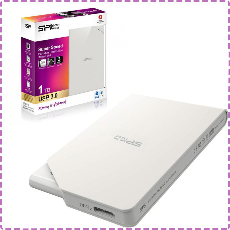 Внешний жесткий диск 1 Tb / 1000 Gb Silicon Power Stream S03, USB 3.0 (SP010TBPHDS03S3W), 1 Тб / 1000 Гб