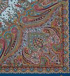 Губернаторский  1504-13, павлопосадский платок (шаль) из уплотненной шерсти с шелковой вязанной бахромой, фото 3