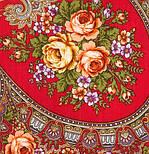 Венский вальс 1121-3, павлопосадский платок шерстяной  с шелковой бахромой, фото 2
