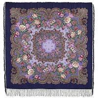 Бал маскарад 982-14, павлопосадский платок шерстяной с шелковой бахромой, фото 1