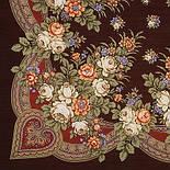 Грушенька 1019-17, павлопосадский платок шерстяной с шерстяной бахромой, фото 2