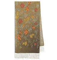 Волшебная аллея 1051-66, павлопосадский шарф шелковый крепдешиновый с шелковой бахромой, фото 1
