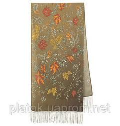 Чарівна алея 1051-66, павлопосадский шовковий шарф крепдешиновый з шовковою бахромою
