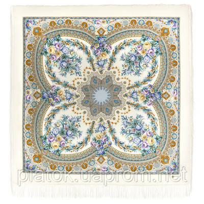 Слова любові 1688-4, павлопосадский вовняну хустку з шовковою бахромою