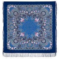 Торжество лета 1694-13, павлопосадский платок шерстяной  с шелковой бахромой