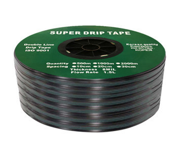 Капельная лента эмиттерная Super Drip Tape 20см (бухта 2000 м) Корея