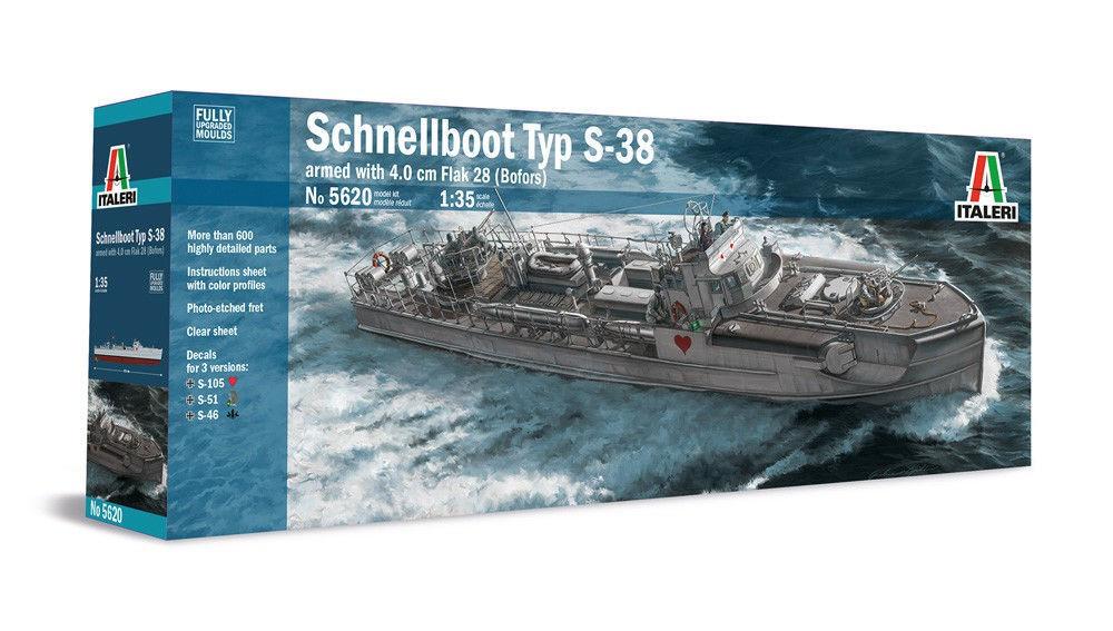 SCHNELLBOOT Typ S-38. 1/35 ITALERI 5620