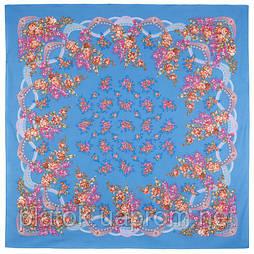 Вера 516-13, павлопосадский платок (шаль) хлопковый (саржа) с подрубкой