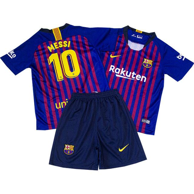 Футбольная форма для детей ФК Барселоны Месси сезон 2018-2019г