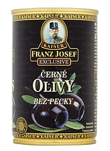 Оливки Kaiser Frazz Joseff  Black Olives Pitted 300 g
