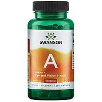 Витамин А, Swanson, 3000 мкг (10000 IU), 250 капсул