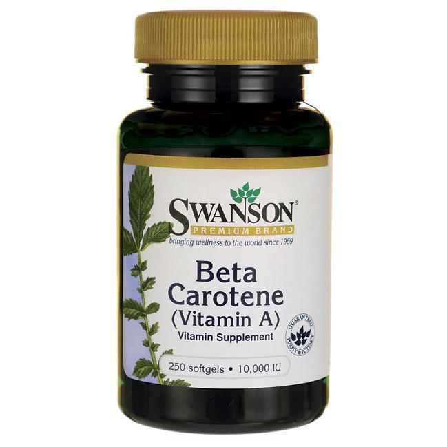 Бета-каротин Витамин А, Swanson, 3000 мкг (10000 IU), 250 капсул
