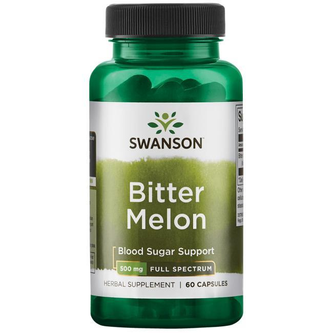 Горький огурец Bitter Melon Momordica, Swanson, 500 мг, 60 капсул