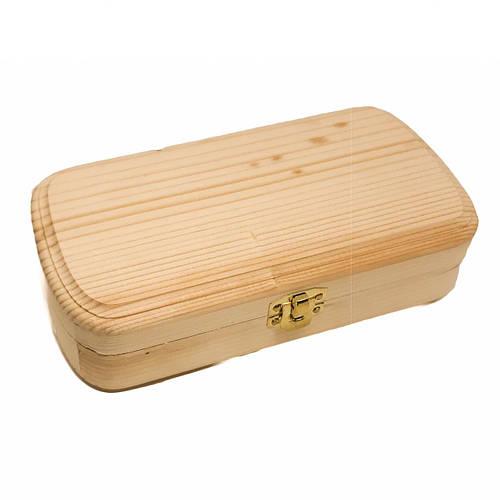 Шкатулка деревянная прямоугольная для очков |заготовка для декупажа |под декорирование| под покраску| 18х9 см