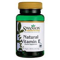 Витамин Е натуральный, токоферол, Swanson 200 мкг 100 капсул