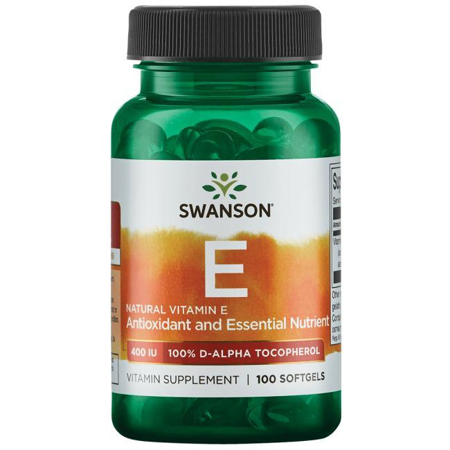 Витамин Е натуральный Swanson 400 мкг 100 капсул