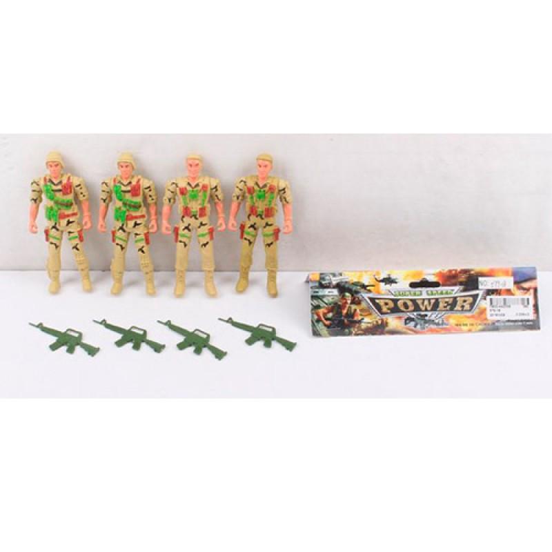 Солдаты в наборах, 12см, оружие, 579-18