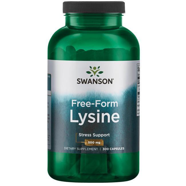 Лизин (L-лизин, Л-лизин, L-lysine) против герпеса, Swanson Premium, 300 капсул