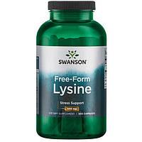 Лизин (L-лизин, Л-лизин, L-lysine) против герпеса, Swanson Premium, 300 капсул, фото 1