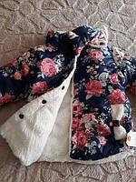 Куртка теплая демисезонная для  девочки  «Цветочная», фото 1