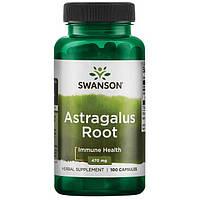 Астрагал корень поддержка сердца и печени, Swanson, 470 мг, 100 капсул