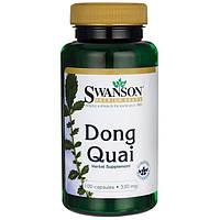Дягиль Донг Ква, Dong Quai, Swanson Premium, 530 мг, 100 капсул