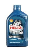 Автомобильное моторное масло полусинтетическое Shell Helix HX7 10W40 1L