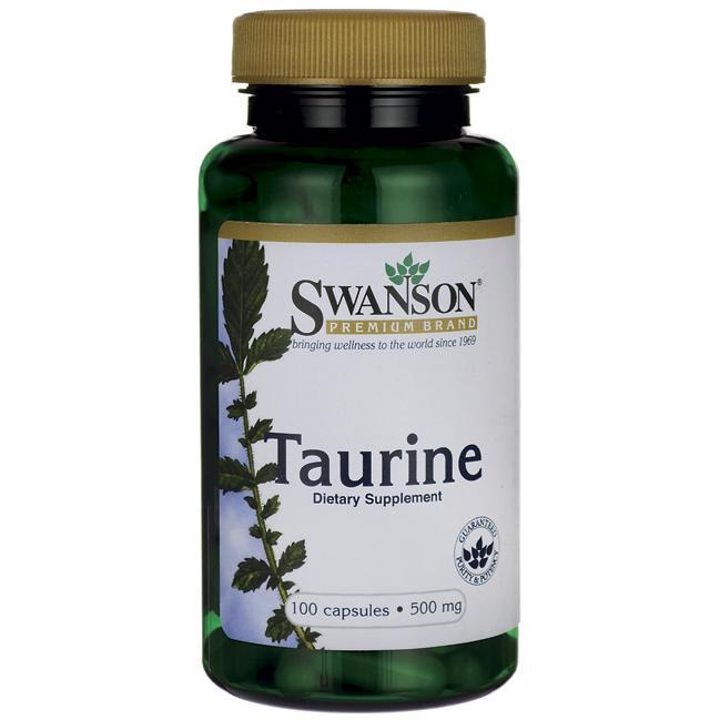 Таурин, 500 мг, 100 капсул, Swanson Premium